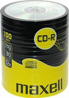 100 x CDR MAXELL BLANK DISCS CD-R RECORDABLE CD