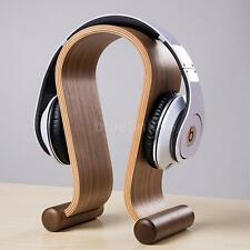 Wooden Walnut Gaming Headset Headphone Universal Stander Holder Hanger Brac
