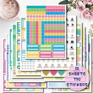 Journal Accessories Diary Stickers DIY Scrapbooking Planner Stickers Calendar