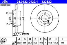 Bremsscheibe (2 Stück) - ATE 24.0122-0122.1