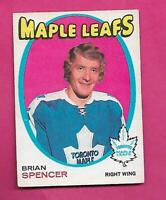 1971-72 OPC # 198 LEAFS BRIAN SPENCER ROOKIE GOOD CARD  (INV# C9545)