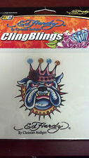 "COOL STICKER, ED HARDY, BY CHISTIAN AUDIGIER, CLING BLINGS, 5-1/2"" x  5"""