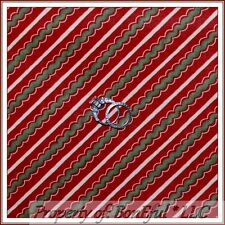 BonEful Fabric FQ Cotton Quilt Red Green White Reindeer Xmas Bias Chevron Stripe