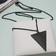 Retro Style Fashion Punk Jewelry Triangle Pendant Long Chain Sweater Necklace