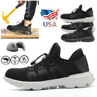 Men's Work Safety Indestructible Shoes Steel Toe Sole Lightweight Sneakers Boots