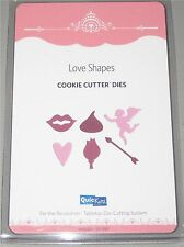 quickutz REVOLUTION COOKIE CUTTER 6 pc LOVE SHAPES lips kiss cupid heart rose