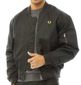 Fred Perry Mens Quilted Bomber Jacket Black All Uk Sizes new Rrp £194.99