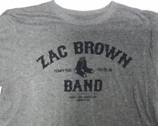 Zac Brown Band Fenway Boston Park Double-Sided Concert T-Shirt Size Xl