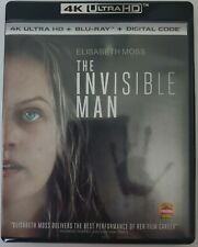 THE INVISIBLE MAN 4K ULTRA HD BLU RAY 2 DISC SET FREE WORLDWIDE SHIPPING
