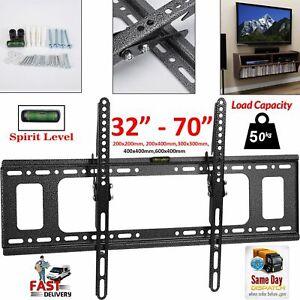 TV WALL BRACKET MOUNT SLIM FOR 26 30 32 40 42 50 63 70 INCH FLAT, Tilt LCD LED