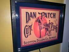 Dan Patch Horse Racing Detroit Tobacco Shop Bar ManCave Lighted Advertising Sign