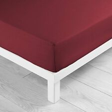 Douceur D'intérieur Drap Housse Uni coton Coquelicot 90 x 190 cm