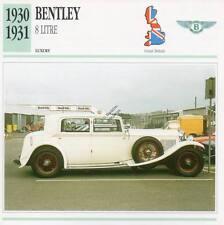 1930-1931 BENTLEY 8 Litre Classic Car Photograph / Information Maxi Card