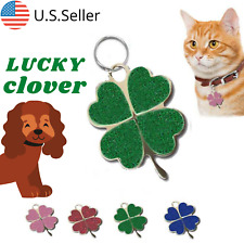 Buy 4 Get 1 Free √ Clover shaped Dog Tags Pet Tag Cat Tag Engraved Personalized