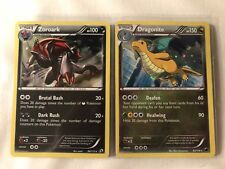 Pokemon Card - 2x Alternative Holo Star Rares Zoroark & Dragonite EX-M 1st B&W