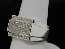 Diamond Pinky Ring Mens Round Cut 14K White Gold Finish Wedding Band 2.50 Ct.