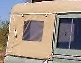 NEW 88 Series 2+3 Full Land Rover Canvas Hood With Side Windows (Black)