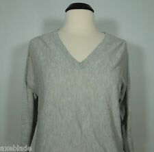 MOSSIMO Gray V-Neck Dolman Sweater Top with 3/4 Sleeves size M
