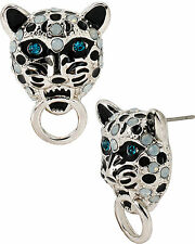 AUTHENTIC BETSEY JOHNSON WHITEOUT CRITTERS SNOW LEOPARD RING STUD NWT RETAIL $30