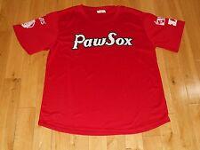 MOOKIE BETTS Red PAWTUCKET RED SOX #50 PAWSOX Promo Boston AAA Team JERSEY Sz XL