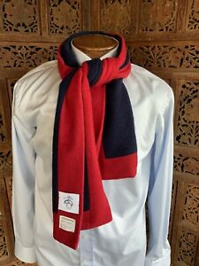 Brooks Brothers Black Fleece By Thom Browne Red Navy Cashmere Scarf Scotland