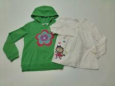 Jumping Beans Sweatshirt Girls Size 7 Monkey Shirt & Size 7 Green Hoodie