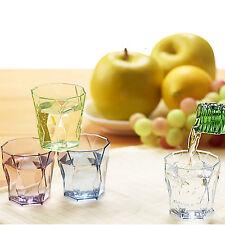Drinking Glass Set Shot Cups Soju Liquor Whiskey Edge Drinking SAN Resins 4P