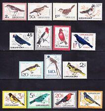 URUGUAY 1962 SG1205/19 set of 15 - BIRDS - mounted mint. Catalogue £55