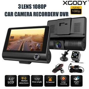 "XGODY 4"" HD 3 Lens Dash Cam Car DVR Autokamera Videorecorder Nachtsicht G-sensor"
