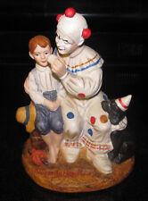 "VIntage Norman Rockwell ""THE RUNAWAY""  Clown/Boy/Dog Porcelain Figurine"