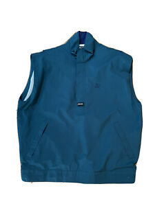 Zero Restriction Gore-tex Golf Windbreaker Vest  1/2 Zip Men XL Green EUC