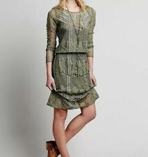 NWOT Free People Luna Lace Dress Fatigue, XS