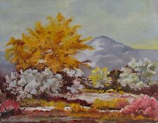 VTG WPA Era New Mexico Landscape Oil Painting H. Benninghoff