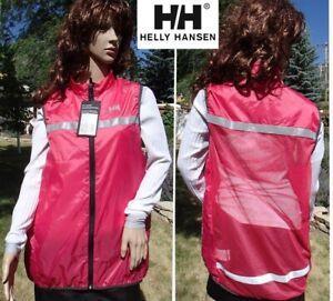 new HELLY HANSEN hi viz vest mesh back ultralite running cycling womens xl tall