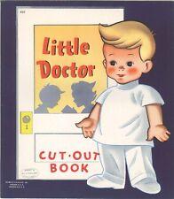 Vintage 1940s Little Doctor Paper Doll Laser Reproducton~Org Sze UncuT Free S&H