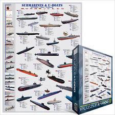 eg60000132 - Eurographics 1000 pezzi di puzzle - Sottomarini & SOTTOMARINI