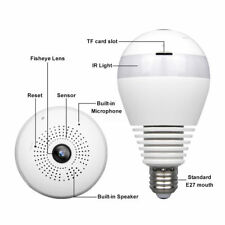Panoramic surveillance camera wireless WIFI bulb camera web camera 360 degrees