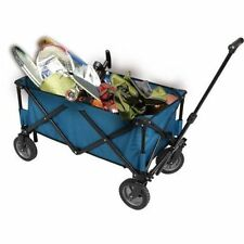 Buggy Folding Wagon Strong Frame Construction Collapsible Folding Portable Blue