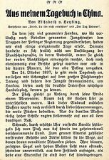 Elisabeth v. Heyking Aus meinem Tagebuch in China Hankau Kiautschou Angriffe1911