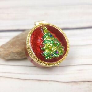 Christopher Radko Shiny Brite Christmas Tree Trinket Pill Box