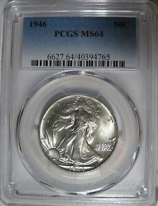 PCGS MS64 1946 Walking Liberty Half Dollar. Original Coin!