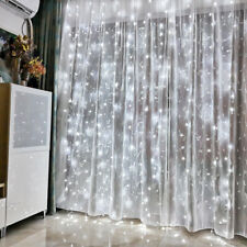 300LED Curtain Wedding Backdrop Fairy Lights White String Light 8 Modes + Remote