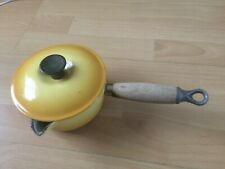 Vintage Le Creuset Yellow Milk Saucepan!  Made in France No Reserve