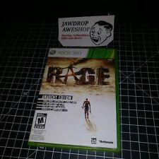 (REPLACEMENT CASE+MANUAL ONLY) RAGE ANARCHY EDITION XBOX 360 (NO GAME INCLUDED)