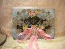 Paris or Shabby Chic Decor: Altered Journal Vintage French Roses