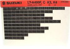 Suzuki LT-A400F C Eiger Auto 4wd 2003 2004 Parts Catalog Microfiche s515