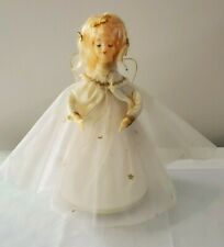 Vintage Musical Angel Wind Up Music Box Made In Japan Christmas Holiday