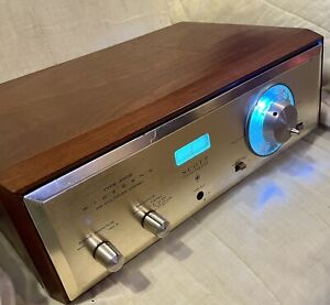 H.H. Scott Type 350B FM Stereo Tube Tuner. Works great!serviced and blue led's