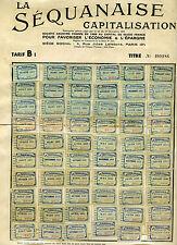 LA SÉQUANAISE. Épargne par capitalisation. collecteur de vignettes. Années 1930