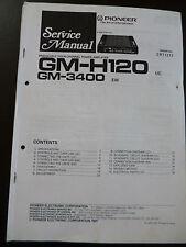 Service Manual Pioneer gm-h120 gm-3400